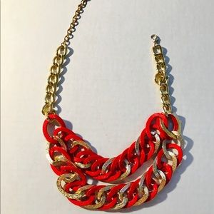 ✨ Red & Gold Stand Out Necklace